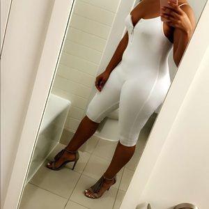 Pants - All white jumpsuit